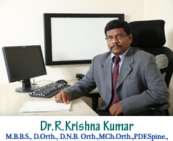 Dr R Krishna Kumar - Ortho Specialist in Chennai- India